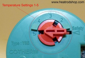 Cotherm temperature setting