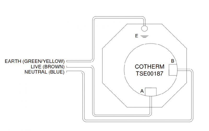 Cotherm TS00187 Wiring heaters having part no prefix hexxxa, hexxxb, hexxxc cotherm thermostat wiring diagram at couponss.co